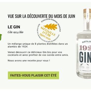 Découverte produits médaillés 🥇🥈🥉  .  Chaque mois, @darnaudofficial vous propose un nouveau produit ! Rendez-vous sur la Découverte du mois, go sur d-arnaud.com (➡️ Lien en bio).  .  Au mois de juin , c'était le Gin Bio 1924  .  Élaboré dans la tradition du London Dry Gin anglais, le Gin 1924 est un alcool de blé bio redistillé en présence d'une sélection de 8 plantes. Construit autour de baies de genièvre et de coriandre, la trame aromatique du Gin est enrichie de notes florales et légèrement épicées. Cultivées en bio dans le Val de Loire, la camomille et l'angélique apportent élégance et structure à l'ensemble.  Le nom 1924 de ce Gin est une référence à la naissance de cet alambic Nantais mais aussi un clin d'oeil à l'âge d'or du Gin et de la culture cocktail des années folles, aussi bien à Paris qu'à New-York. . . . . . . #darnaudofficial #concours #recompense #cuisine #saveurs #gastronomiefrancaise #medailles #instafood #epiceriefine #epicerie #directproducteur #producteurslocaux #savoirfairefrancais #artisanatfrancais #madeinfrance #artisans #yummy #cuisinefrançaise #gin #cocktails #cocktailforyou #cocktailoftheday #cga2020 #legoutavanttout #gincocktails   L'abus d'alcool est dangereux pour la santé. À consommer avec modération. La vente et la distribution de boissons alcoolisées à des mineurs de moins de dix-huit ans est strictement interdite. Code de la santé publique, Art. L3342-1 et L3353-3.